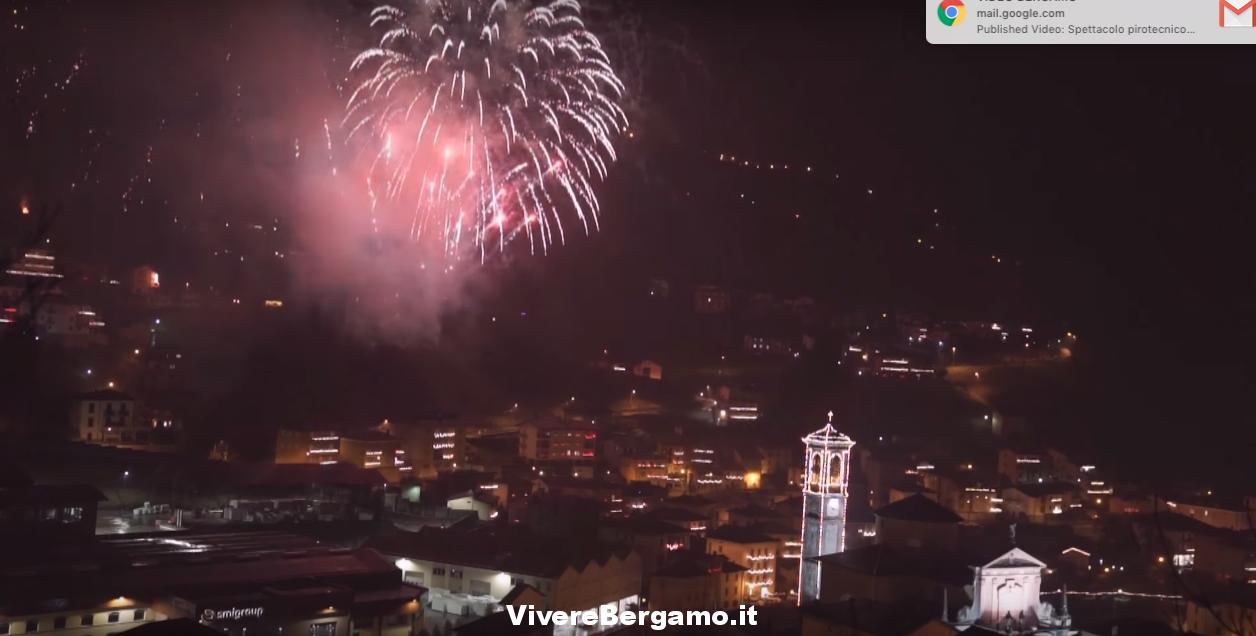 Video Spettacolo pirotecnico Sacra Spina 2018 a San Giovanni Bianco