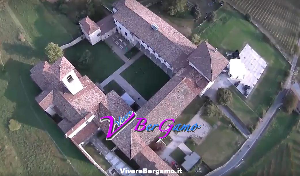 Monastero di Astino dal drone - Bergamo